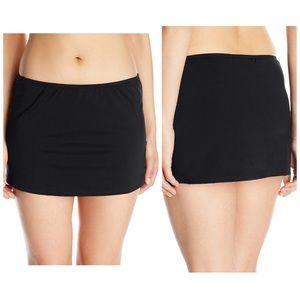 Jantzen Skirted Bikini Black Skirt Bottom Size 12